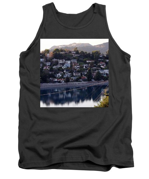 Silver Lake Reservoir And Hollywood Hills Tank Top