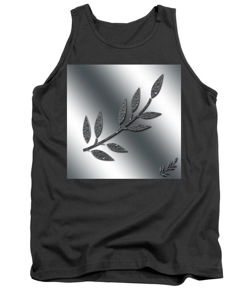 Silver Leaves Abstract Tank Top by Aimee L Maher Photography and Art Visit ALMGallerydotcom