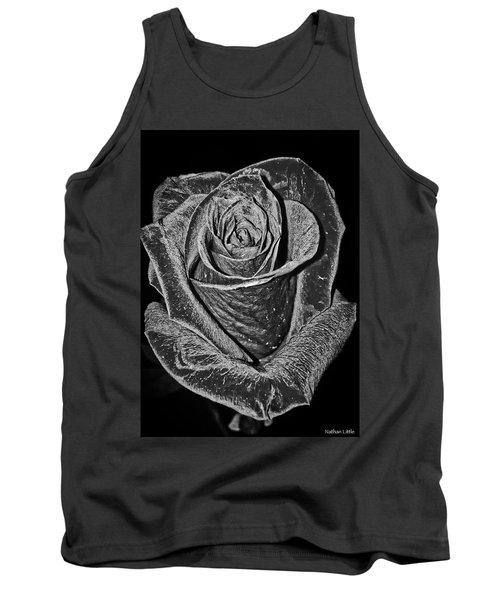 Silver Rose Tank Top