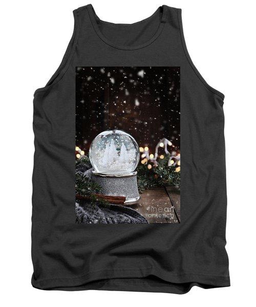 Silver Snow Globe Tank Top