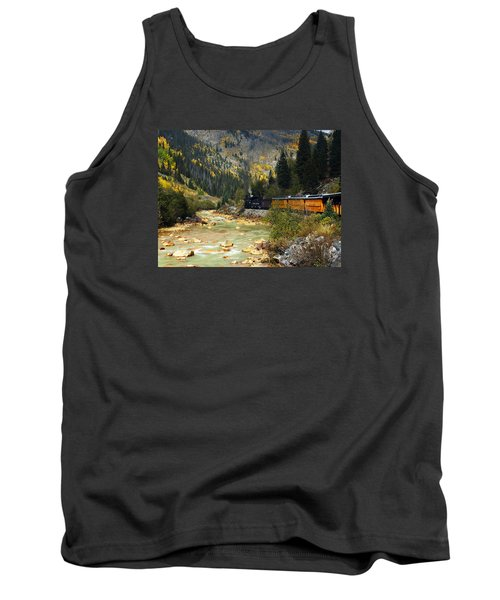 Tank Top featuring the photograph Silverton Bound by Kurt Van Wagner