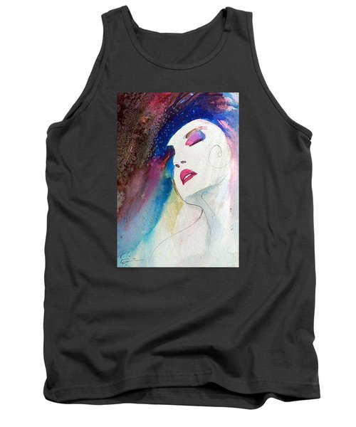 Tank Top featuring the painting Simonne by Ed Heaton