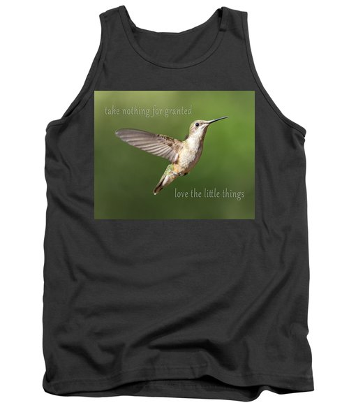 Simple Country Truths Hummingbird Tank Top