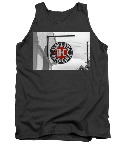 Sinclair Gasoline Round Sign In Selective Color Tank Top