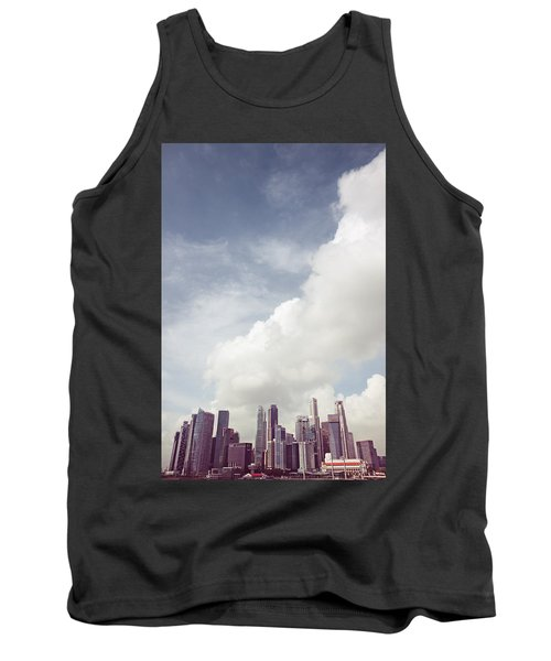 Tank Top featuring the photograph Singapore Cityscape by Joseph Westrupp