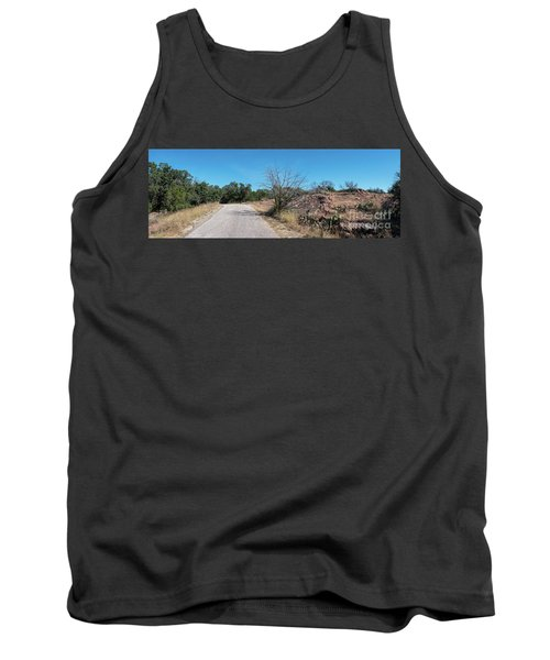 Single Lane Road In The Hill Country Tank Top