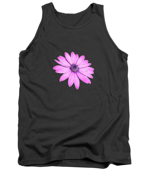 Single Pink African Daisy Tank Top by Tracey Harrington-Simpson