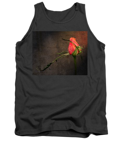 Single Rose Tank Top by Ann Lauwers