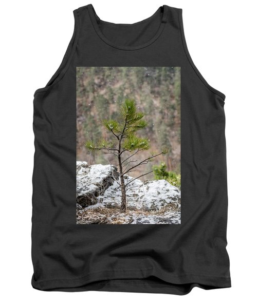 Single Snowy Pine Tank Top