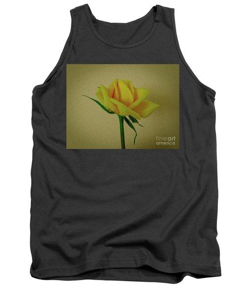 Single Yellow Rose Tank Top