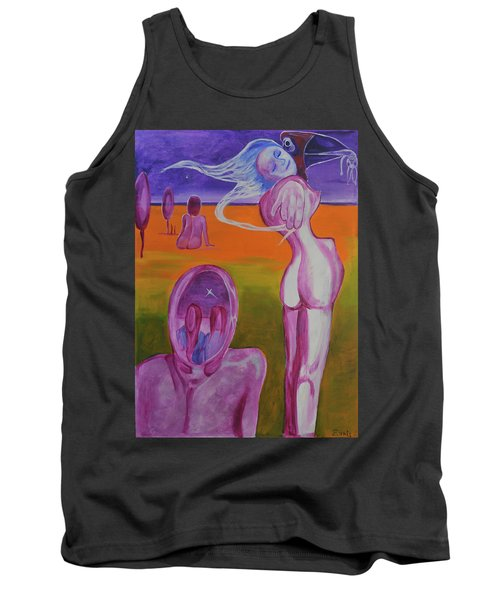 Tank Top featuring the painting Sirens by Christophe Ennis