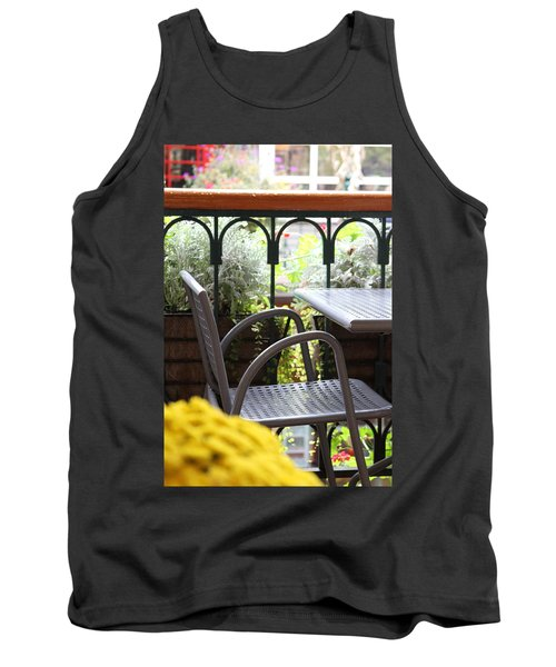 Tank Top featuring the photograph Sit A While by Laddie Halupa