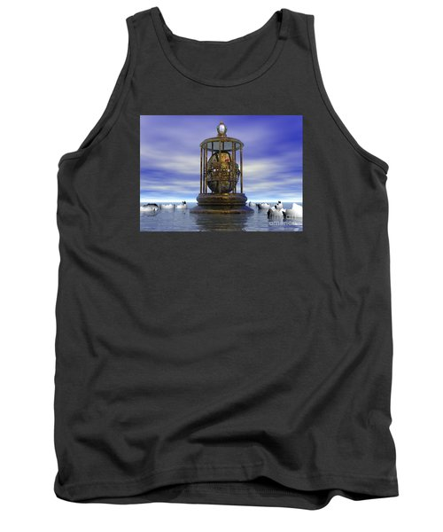 Tank Top featuring the digital art Sixth Sense - Surrealism by Sipo Liimatainen