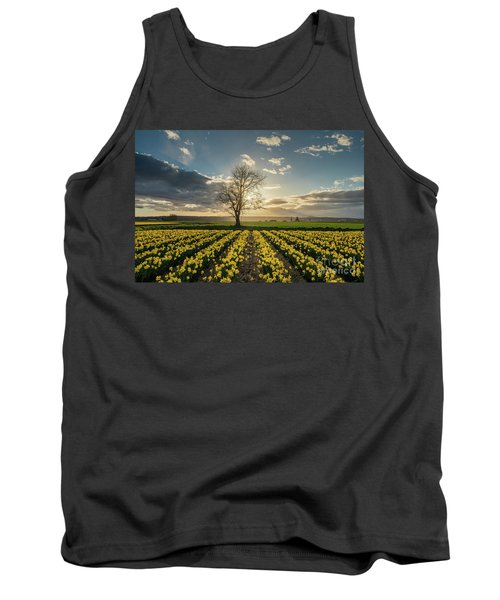 Tank Top featuring the photograph Skagit Daffodils Lone Tree  by Mike Reid