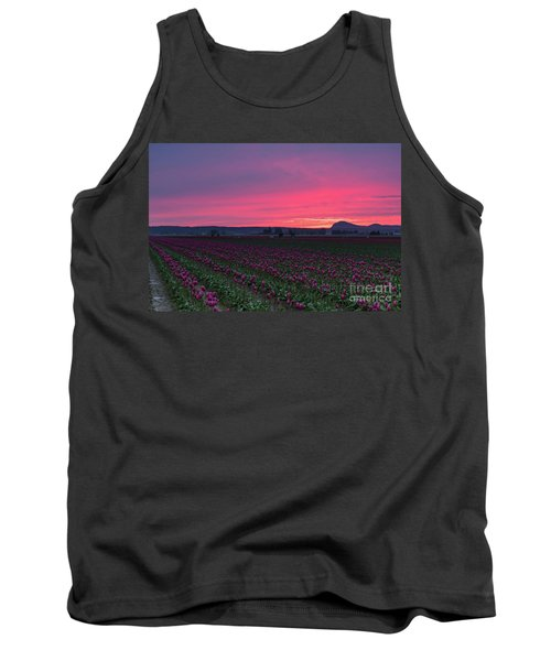 Tank Top featuring the photograph Skagit Valley Burning Skies by Mike Reid