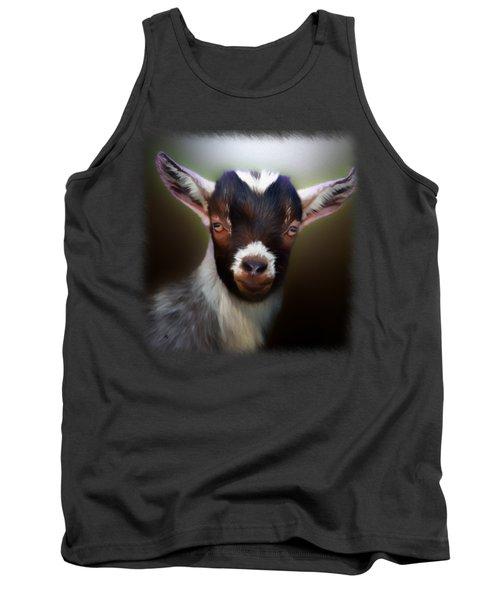 Skippy - Goat Portrait Tank Top by Linda Koelbel