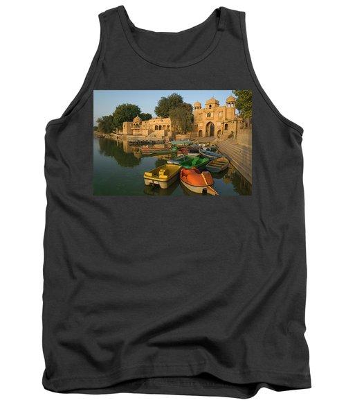 Skn 1391 A Visit To Gadisar Lake Tank Top by Sunil Kapadia