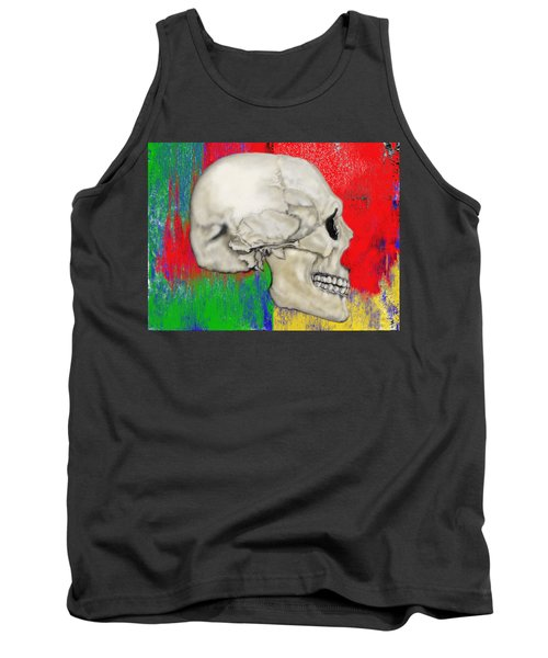 Skull In Primary Without Shape Tank Top