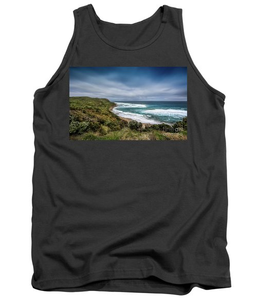 Tank Top featuring the photograph Sky Blue Coast by Perry Webster