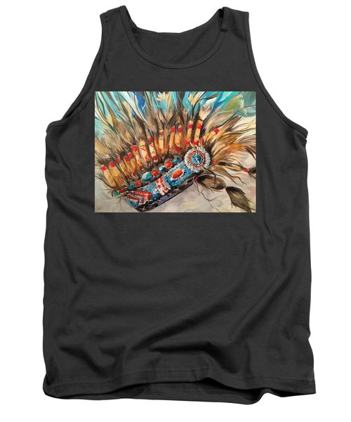 Sky Feather Detail Tank Top