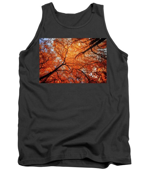 Sky Roots In Forest Red Tank Top by John Williams
