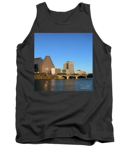 Tank Top featuring the photograph Skyline Atx by Sebastian Mathews Szewczyk