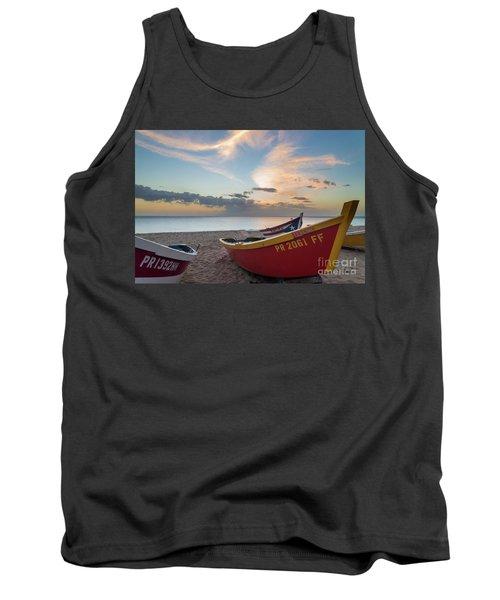 Sleeping Boats On The Beach Tank Top