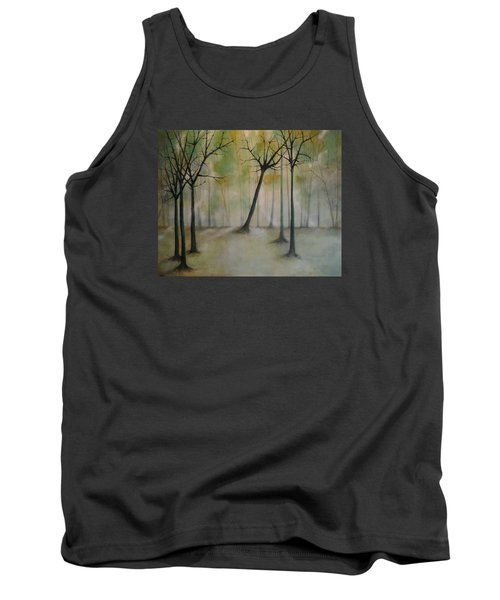 Tank Top featuring the painting Sleeping Trees by Tamara Bettencourt