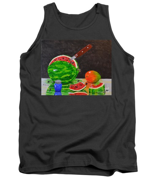 Sliced Melon Tank Top by Melvin Turner
