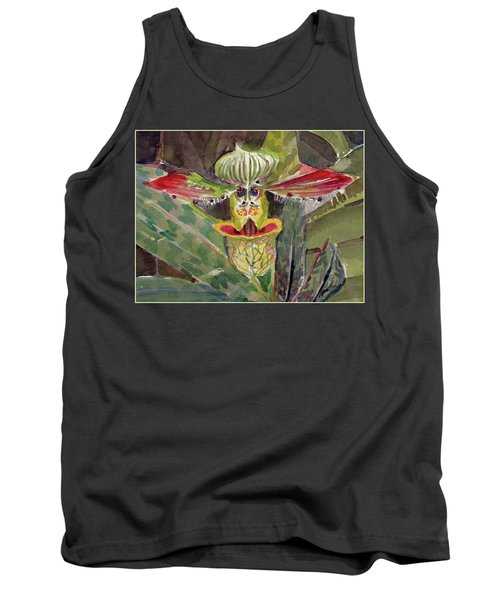 Tank Top featuring the painting Slipper Foot Aladdin by Mindy Newman