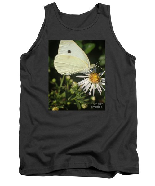Tank Top featuring the photograph Sm Butterfly Rest Stop by Christina Verdgeline