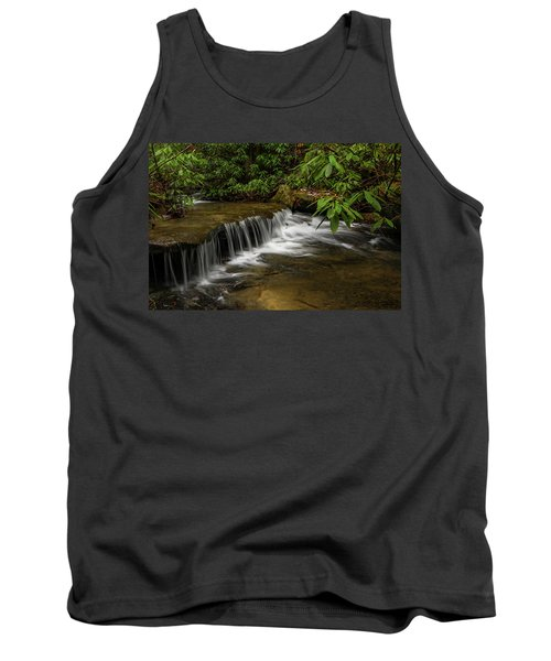 Small Cascade On Pounder Branch. Tank Top by Ulrich Burkhalter