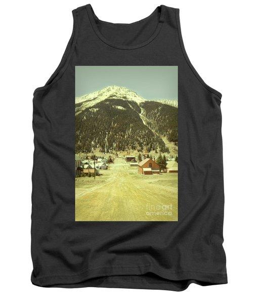 Small Rocky Mountain Town Tank Top by Jill Battaglia