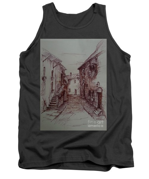 Small Town Drawing Tank Top