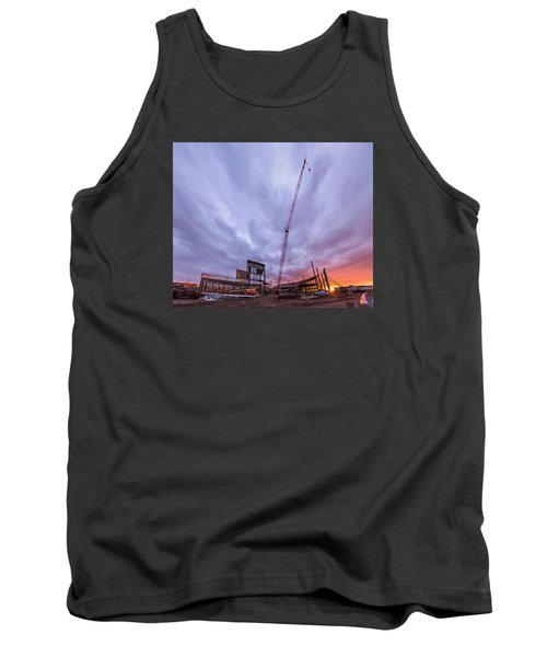 Tank Top featuring the photograph Smart Financial Centre Construction Sunset Sugar Land Texas 10 26 2015 by Micah Goff