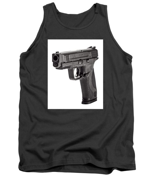 Tank Top featuring the photograph Smith And Wesson Handgun by Andy Crawford