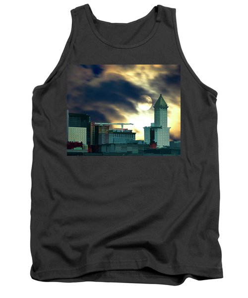 Tank Top featuring the photograph Smithtower Moon by Dale Stillman