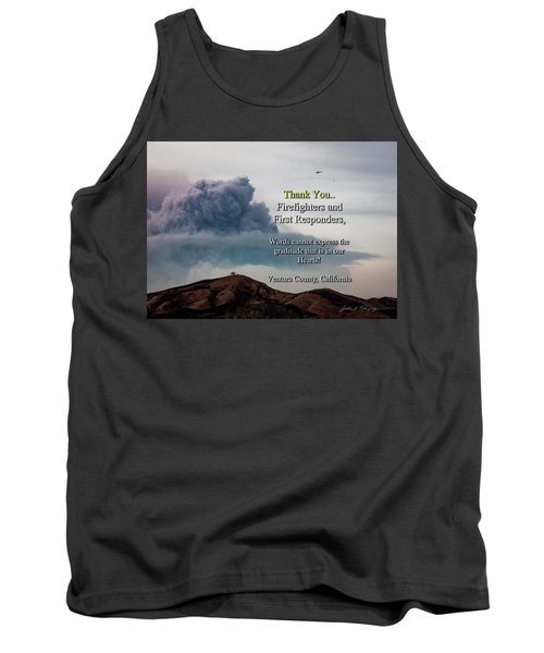 Smoke Cloud Over Two Trees Tank Top