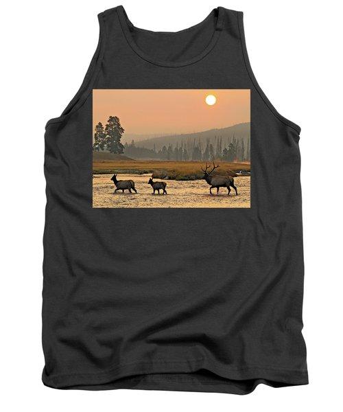 Smokey Elk Crossing Tank Top