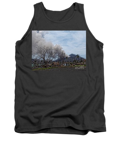 Tank Top featuring the photograph Smoking Volcano by Trena Mara