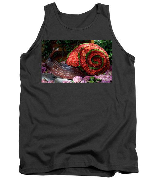 Snail With Flowers Tank Top
