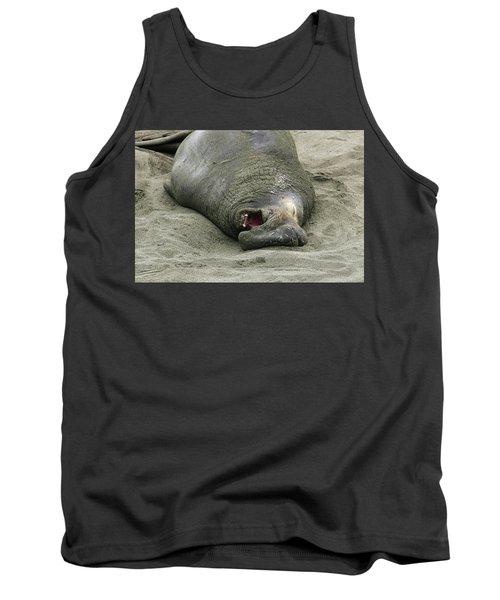 Snoring Elephant Seal Tank Top