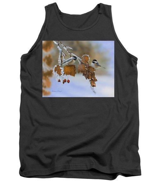Snow Chickadees Tank Top