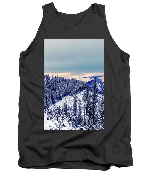 Snow Covered Mountains Tank Top