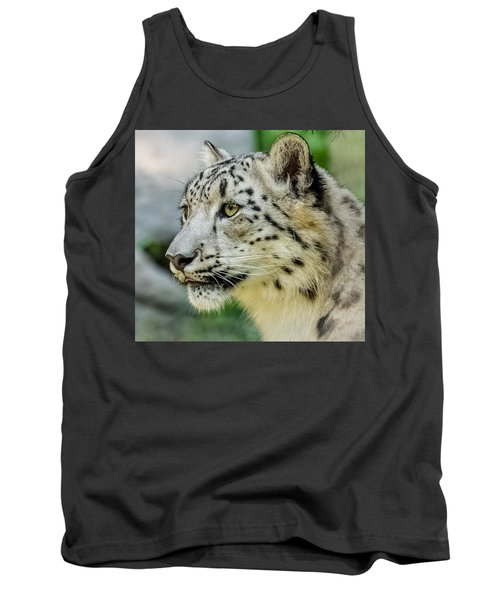 Snow Leopard Portrait Tank Top by Yeates Photography