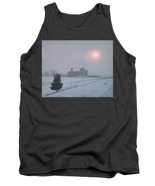 Snow Muted Sunset Tank Top by Judy Johnson