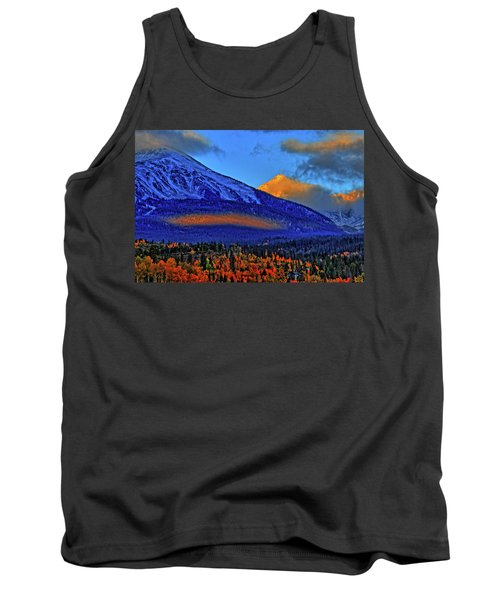 Tank Top featuring the photograph Snow Peak Fall by Scott Mahon