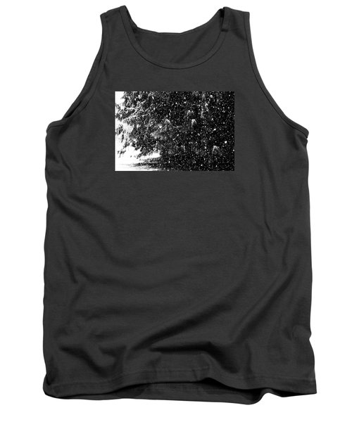 Tank Top featuring the photograph Snow by Yulia Kazansky