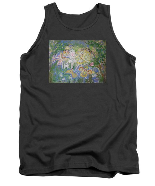 Snowdrop The Fairy And Friends Tank Top by Judith Desrosiers