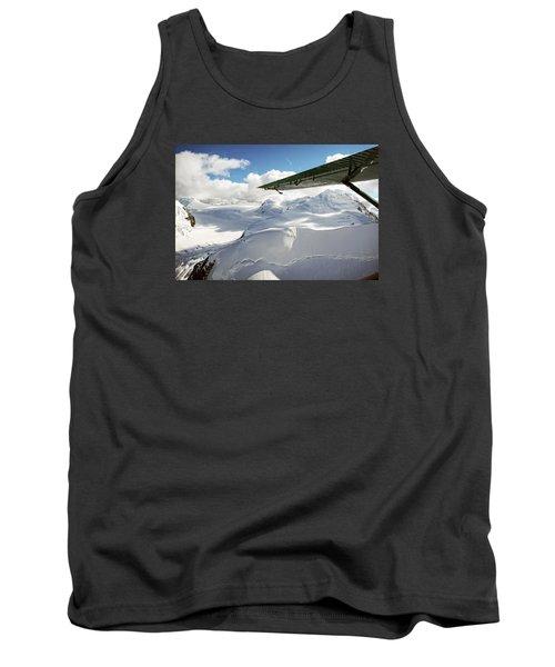 Snowfield Off Airplane Wing - Alaska Range Tank Top